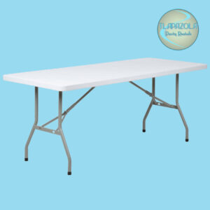6 Feet Plastic Long Table Rental from Tlapazola Party Rentals Gardena