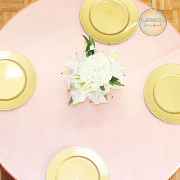 13 Inch Plastic Charger Plate Party Rental Equipment in Los Angeles