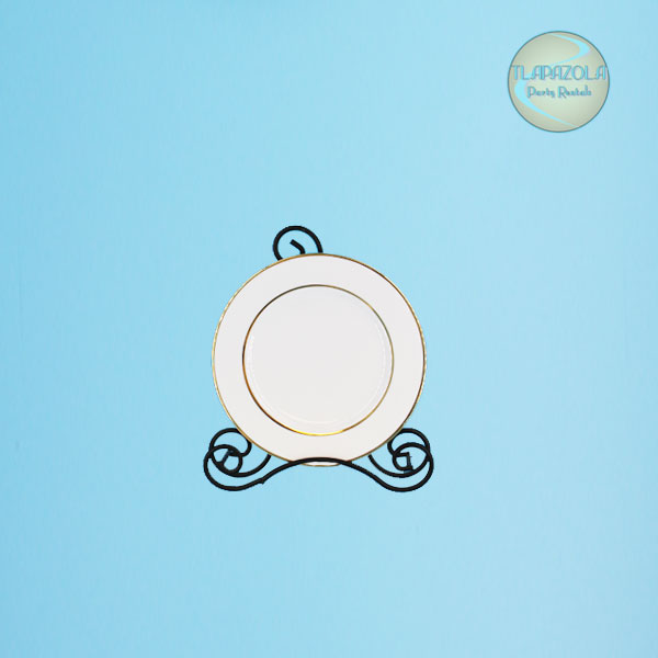 7 Inch Gold Rim Dessert or Salad Plate Rental from Tlapazola Party Rentals Gardena