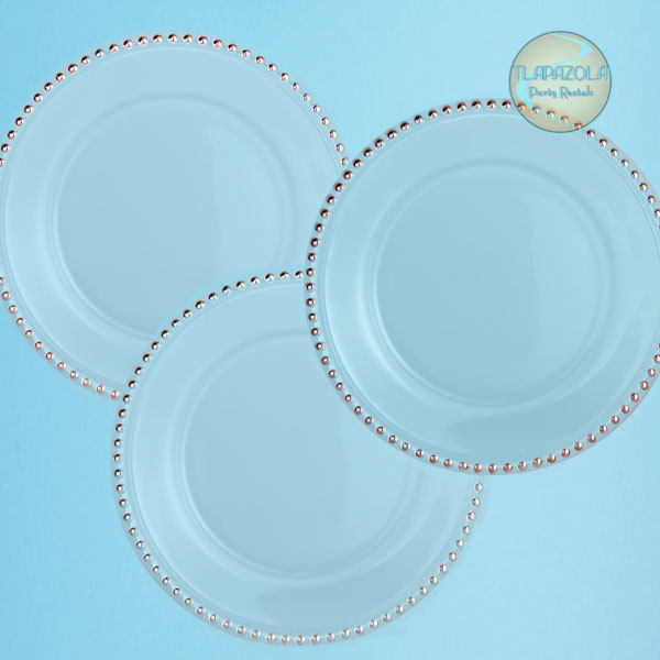Glass Charger Plate Rentals from Tlapazola Party Rentals in South Bay