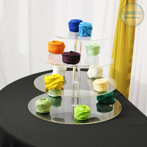 4 Tier Clear Display Holder Stand Rental in LA