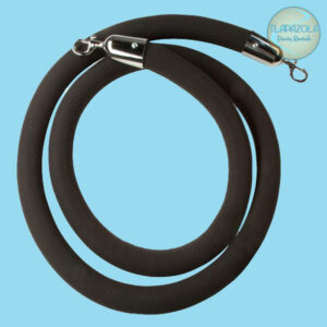 8 Feet Black Stanchion Rope, Party Rentals in Gardena Tlapazola