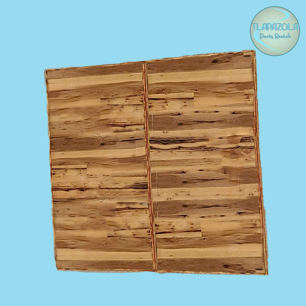 Double Wooden Accent Portable Wall Rentals from Tlapazola Party Rentals