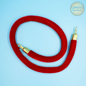6 Feet Stanchion Rope Red, Party Rental Equipment in Los Angeles, Gardena