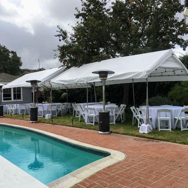 10 by 30 Feet Canopy Tent Rentals in Gardena