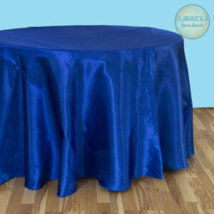 132 Inch Round Satin Tablecloth Rentals from Tlapazola Party Rentals in South Bay