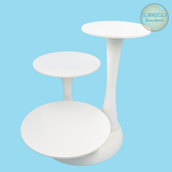 3 Tier Cake Stand Rentals from Tlapazola Party Rentals in Los Angeles