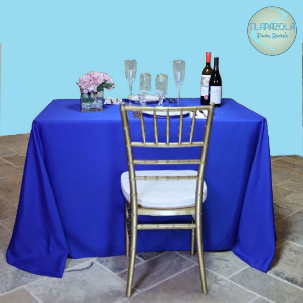 90 inches by 108 inches for 4 feet tables Polyester Linen tablecloth rentals in Gardena