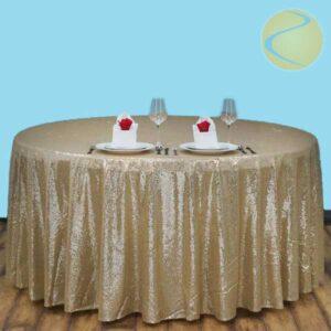 Round Sequin 108 Inch Diameter Tablecloth Rentals in Gardena