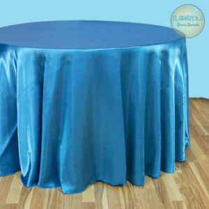 120 Inch Round Satin Tablecloth Rental from Tlapazola Party Rentals in South Bay