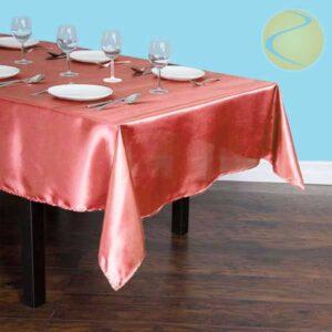 Rectangular Satin Tablecloth Rentals in Gardena