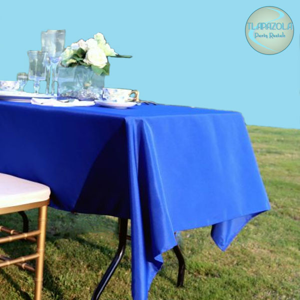 60 by 78 Inches Polyester Tablecloth Rentals