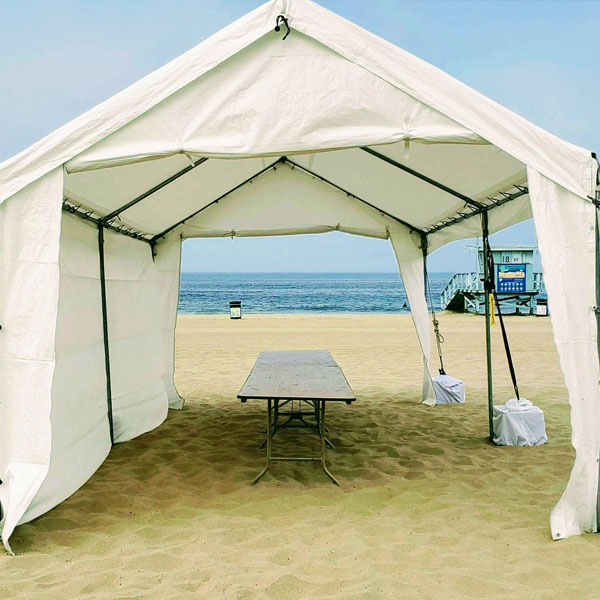 Tent Rental 20 feet by 10 feet at the beach from Tlapazola Party Rentals Gardena